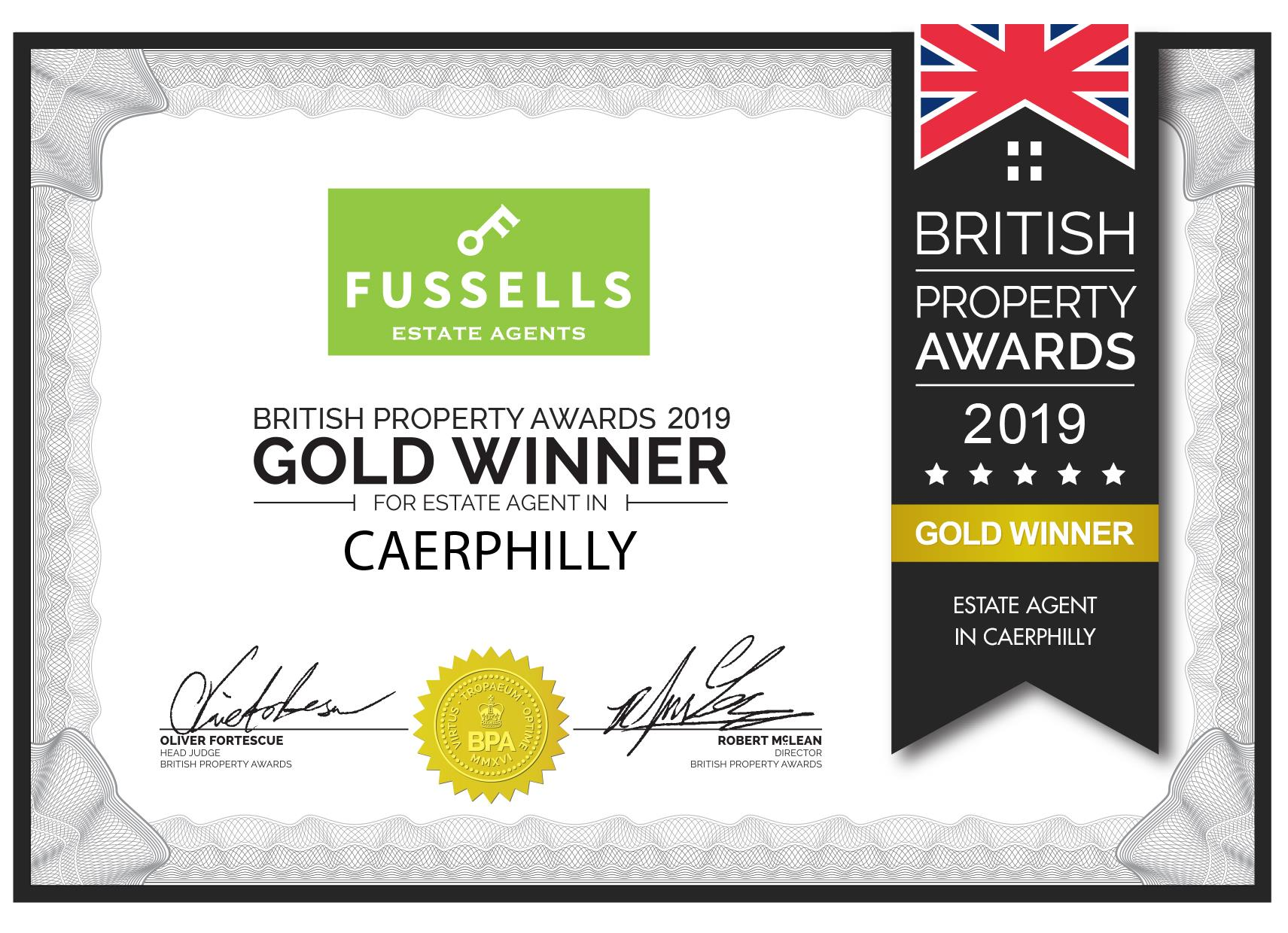 Fussells are a winner in the British Property Awards 2019!